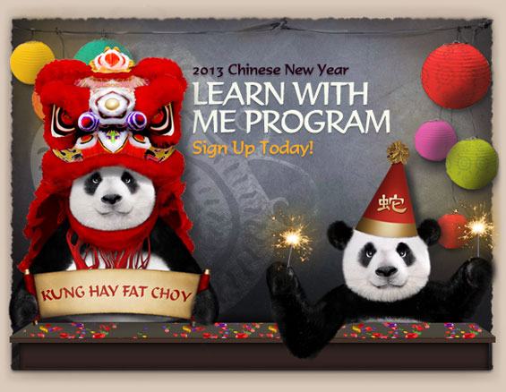 2012 Chinese New Year: Learn With Me Program